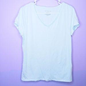 Ann Taylor Light Mint V Neck Shirt